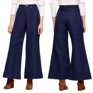 Free People Super High Rise Wide Leg Jeans NEW